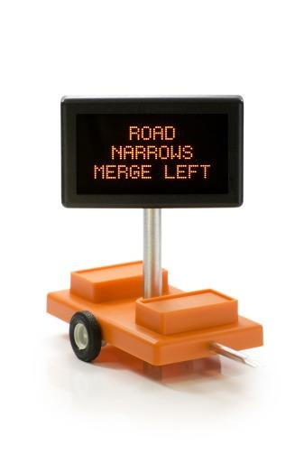 Road Narrows Merge Left O Scale