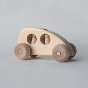 One of our favorite toy wooden cars and trucks, this little toy car is handmade in Maine | Salt Air Supply