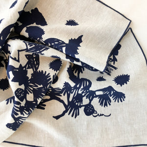 Handmade navy linen tea towel | Salt Air Supply