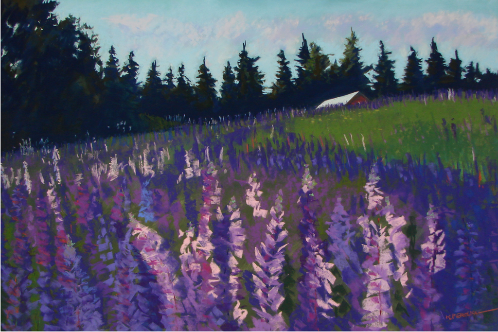 Lupine greeting card featuring purple lupine | Salt Air Supply