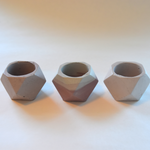 Trio of Mini Cement Planters