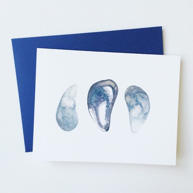 Watercolor shell greeting card | Salt Air Supply