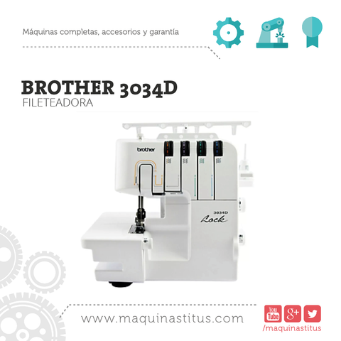3034 D Brother Fileteadora Familiar