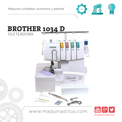 1034 D Brother Fileteadora Familiar