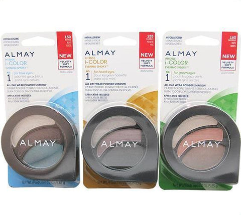 ALMAY (AIIE) INTENSE i-COLOR EVENING POWDER SHADOW 3 SHADES  150,155,160 PACK 24PCS