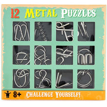Load image into Gallery viewer, 12 METAL PUZZLES