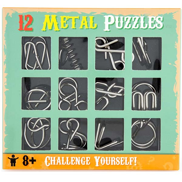 12 METAL PUZZLES