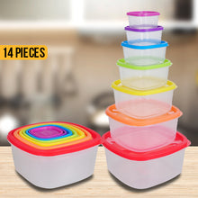 Load image into Gallery viewer, 14 Piece Set Square Food Storage Set