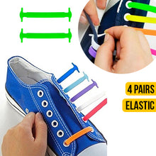 Load image into Gallery viewer, 4 PAIRS Tieless Elastic No Tie Shoelaces