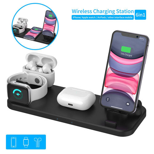 Wireless Charging Station Dock for Apple Android