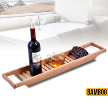 Load image into Gallery viewer, Bamboo Bathtub Caddy Tray