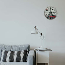Load image into Gallery viewer, Eiffel Tower Glass Wall Clock