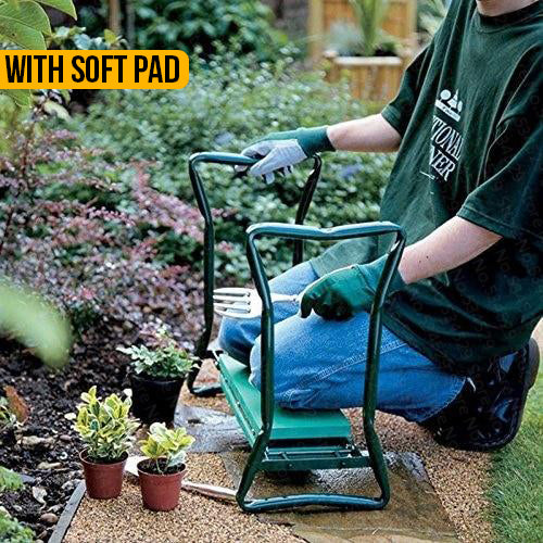 Foldable Garden Kneeler Seat Stool