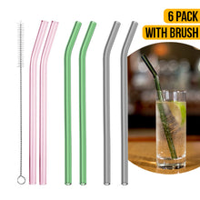 Load image into Gallery viewer, 6 Pack Drinking Glass Straws