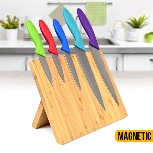 Magnetic Bamboo Knife Blocks