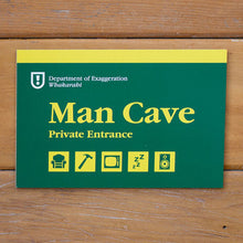 Load image into Gallery viewer, Wooden Sign Man Cave
