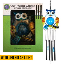 Load image into Gallery viewer, Solar Light Owl Windchime