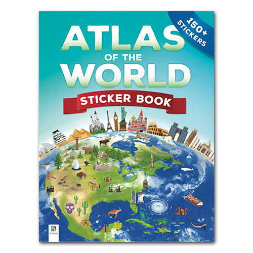 Educational Atlas Of The World Sticker Book