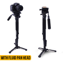 Load image into Gallery viewer, Photography Monopod WIth Fluid Pan Head