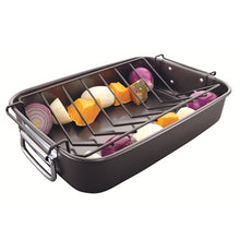 Load image into Gallery viewer, European Roaster Tray - With V Shaped Roasting Rack