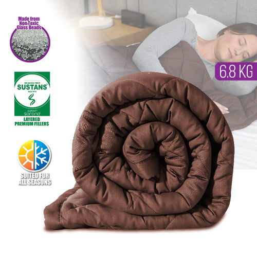 Cuddle Comfort Weighted Blanket Coffee 6.8KG