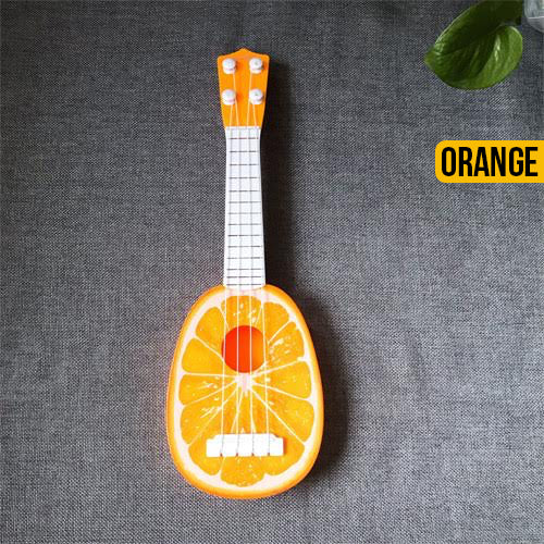 Cute Fruit Ukulele Toy Guitar - Orange