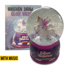 Load image into Gallery viewer, Unicorn Snow Globe With Music