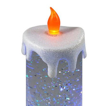 Load image into Gallery viewer, Swirling LED Glitter Candle