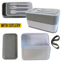 Load image into Gallery viewer, 2 Tier Bento Box - Grey