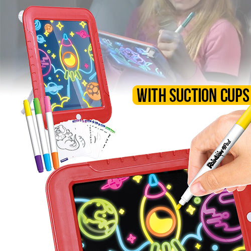 Light Up Drawing Pad Deluxe - with Markers & Stencils