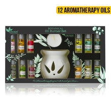 Load image into Gallery viewer, Escape Naturals Oil Burner - 12 Aromatherapy Oils Set