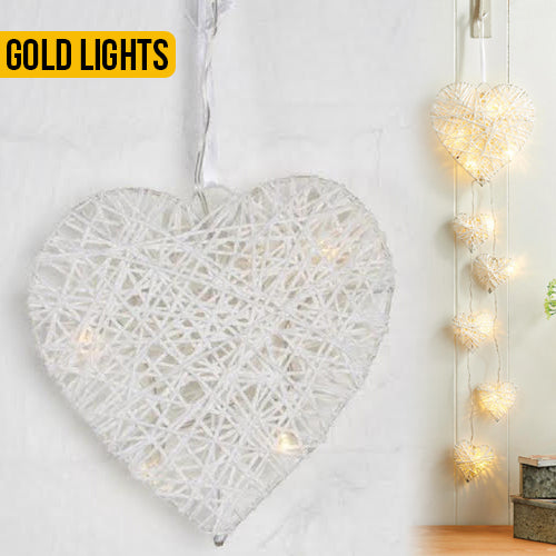 Decorative Light Up Hanging Hearts