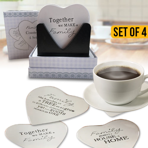 Family Ceramic Coaster Set