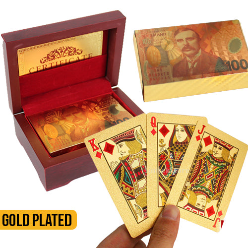 NZD Gold Playing Cards