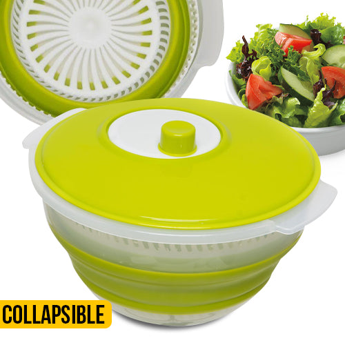 Collapsible Salad Spinner - Easy Storage