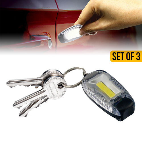 Zoom Tac COB Key Chain Flashlight Set of 3