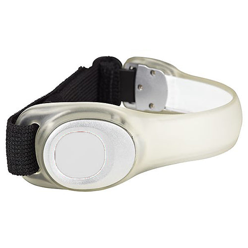 Flashing LED Armband - White