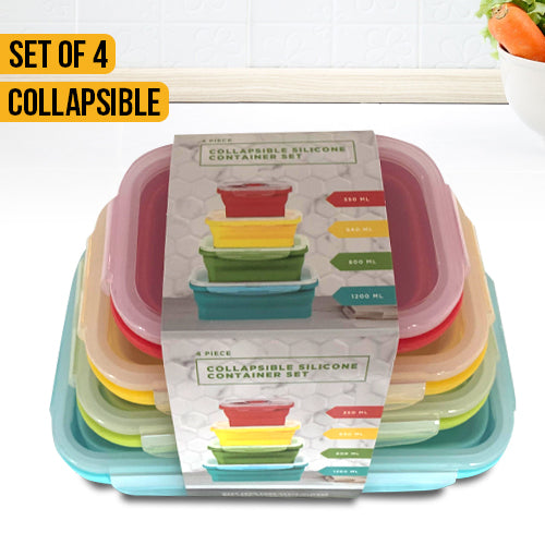 4 Pieces Collapsible Silicone Containers