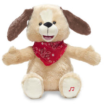 Load image into Gallery viewer, Singing Plush Dog Toy