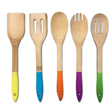 Load image into Gallery viewer, 5 Piece Bamboo Utensil Set