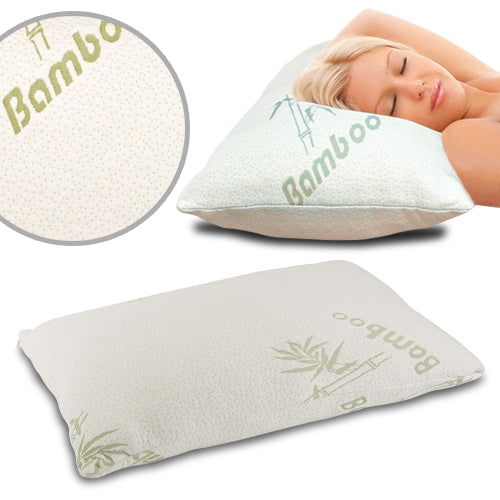 Bamboo Memory Foam Pillow in a Bag