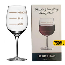 Load image into Gallery viewer, Hows Your Day Wine Glass - Pour Depending On Mood