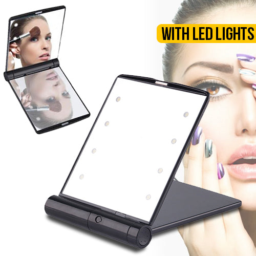 8 LEDs Makeup Travel Mirror