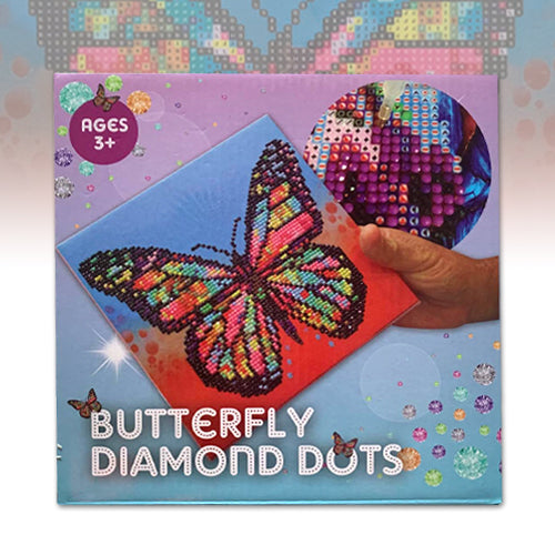 Butterfly Diamond Dots Poster with frame