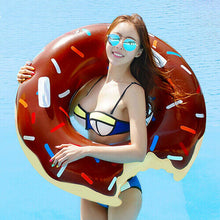 Load image into Gallery viewer, Inflatable Doughnut Pool Float