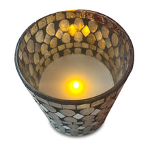 Load image into Gallery viewer, Glass LED Mosaic Candle