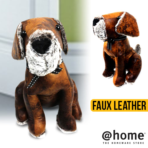 Leatherette Hound Dog Weighted Doorstop