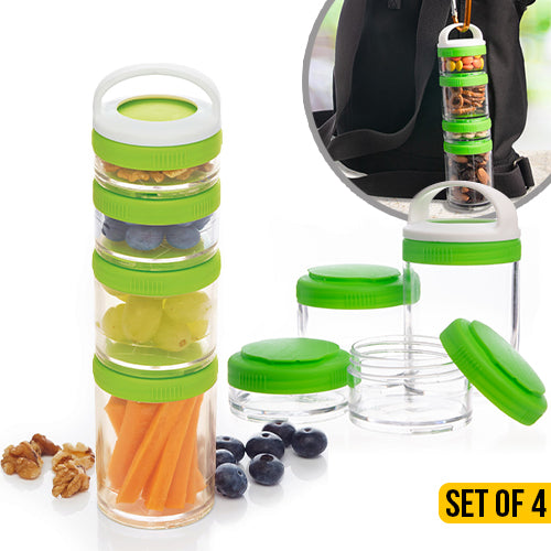 Stackable Snack Containers Set of 4