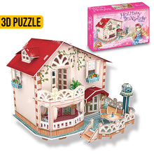 Load image into Gallery viewer, CubicFun Holiday Bungalow Dollhouse