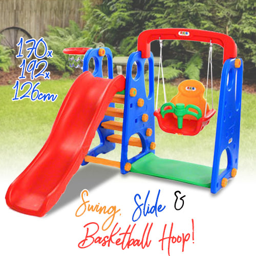 Kids Swing and Slide Set